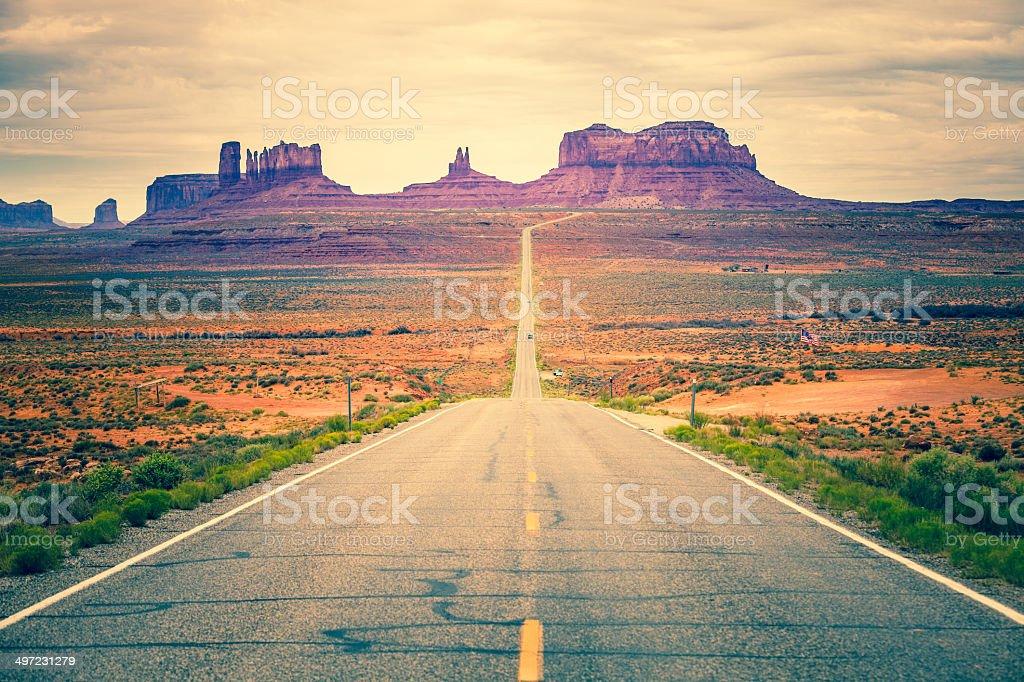 Road to Monument Valley, USA Landmark stock photo