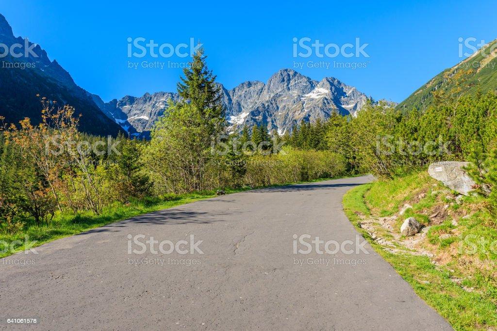 Road to Morskie Oko lake in Tatra Mountains, Poland stock photo