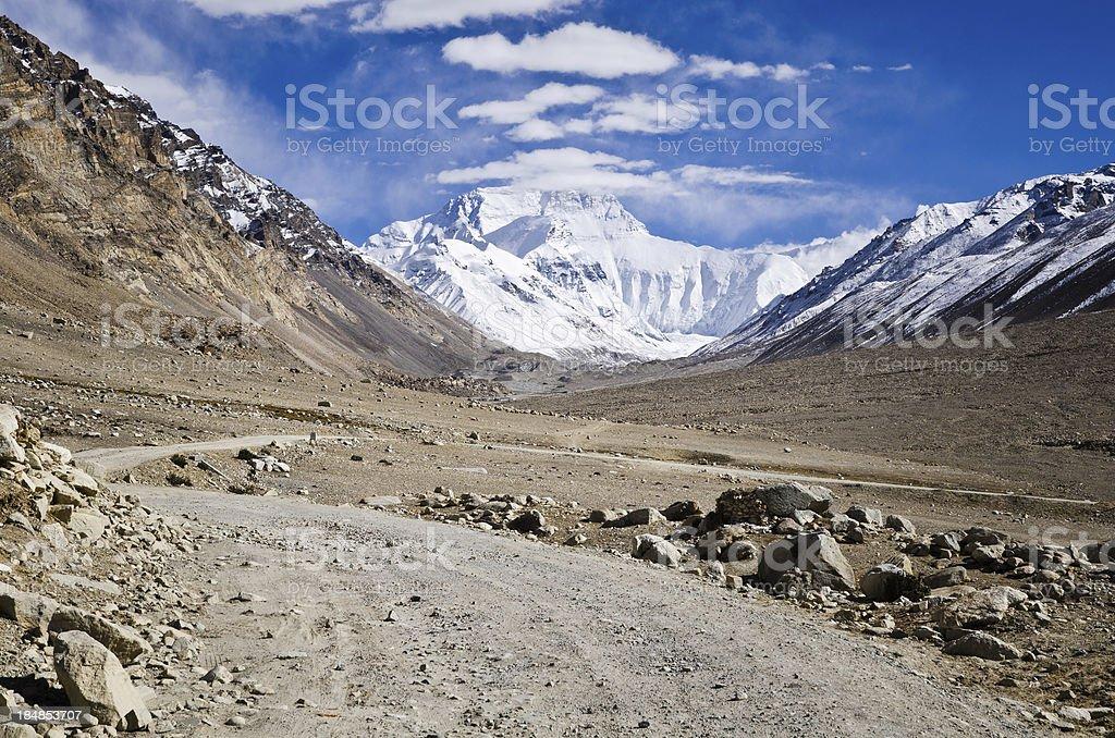 Road to Mount Everest, Tibet royalty-free stock photo