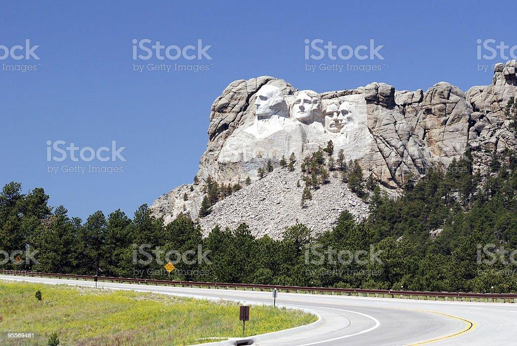 Road to Mount Rushmore stock photo