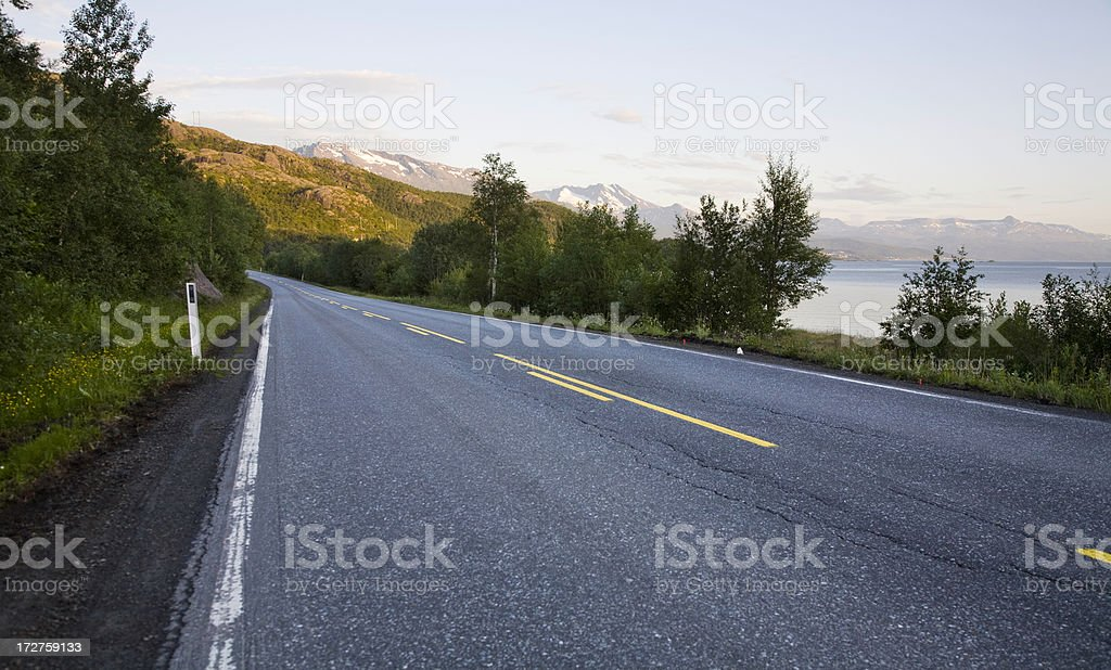 road to mountains royalty-free stock photo