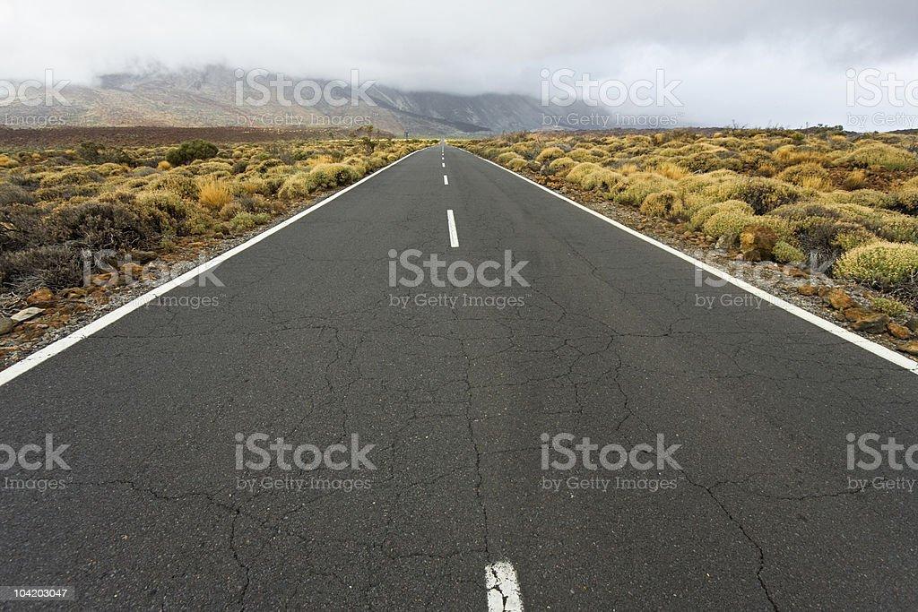 Road to mountains, Tenerife royalty-free stock photo