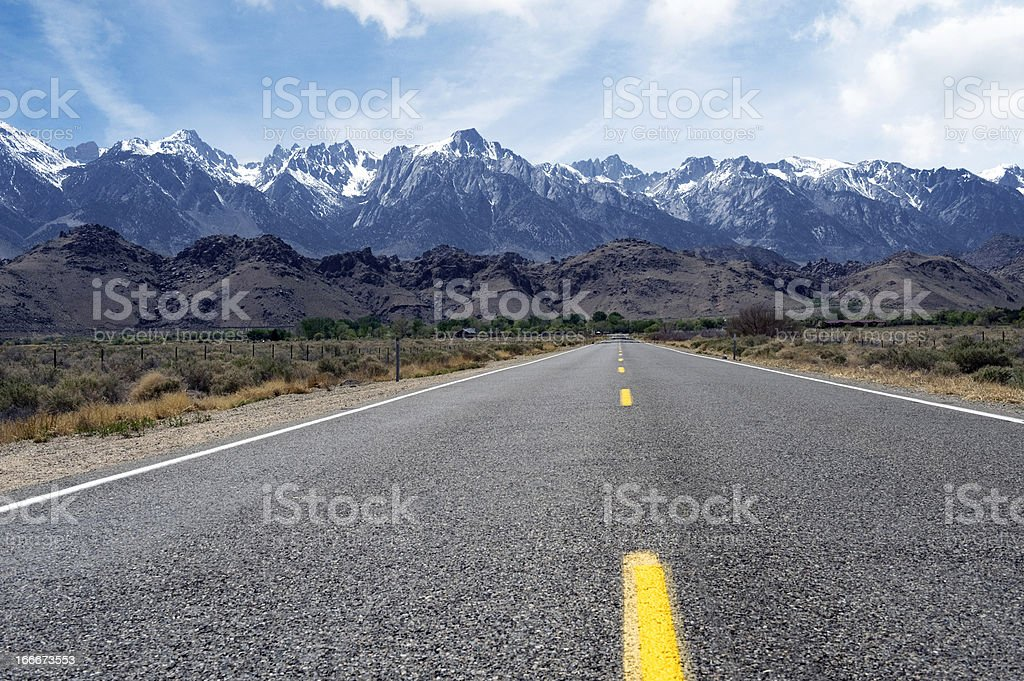 Road to Mt.Whitney stock photo