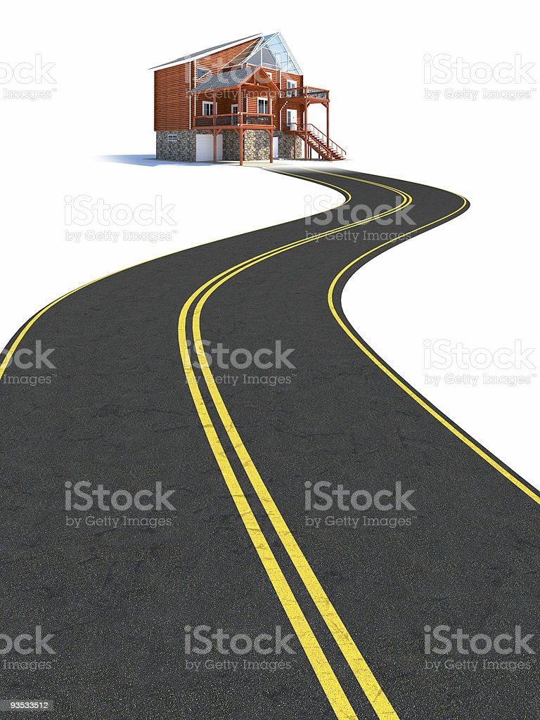 Road to new house. royalty-free stock photo