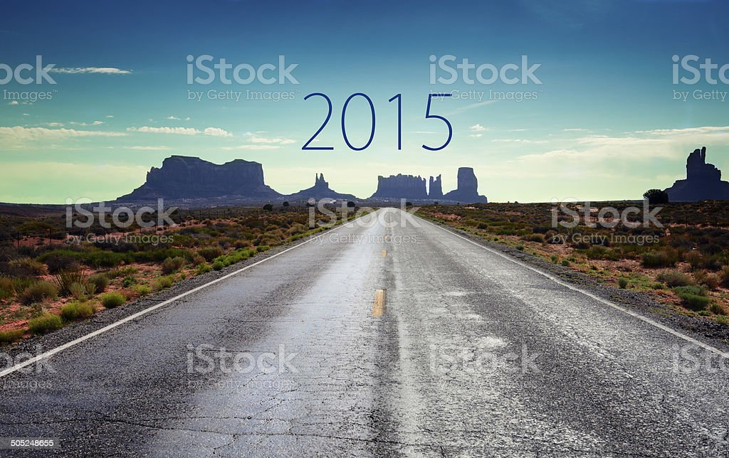 Road To New Year 2015 royalty-free stock photo
