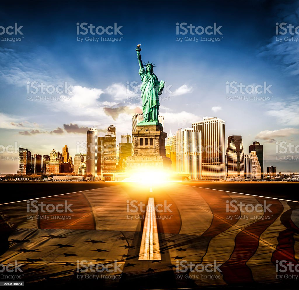 Road to New York City stock photo