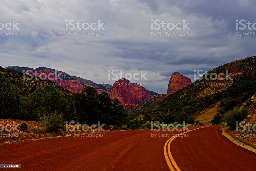 Road To North Zion stock photo