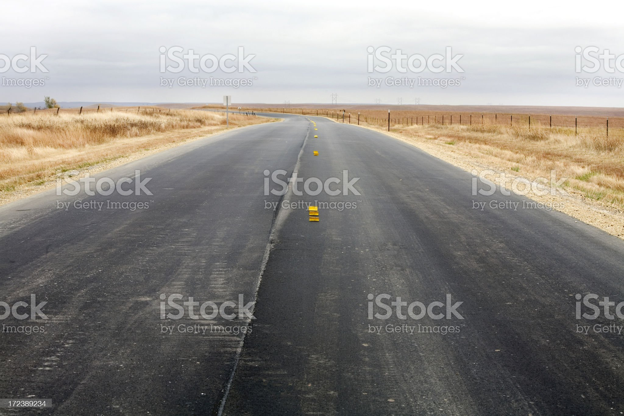 Road to Nowhere Kansas royalty-free stock photo