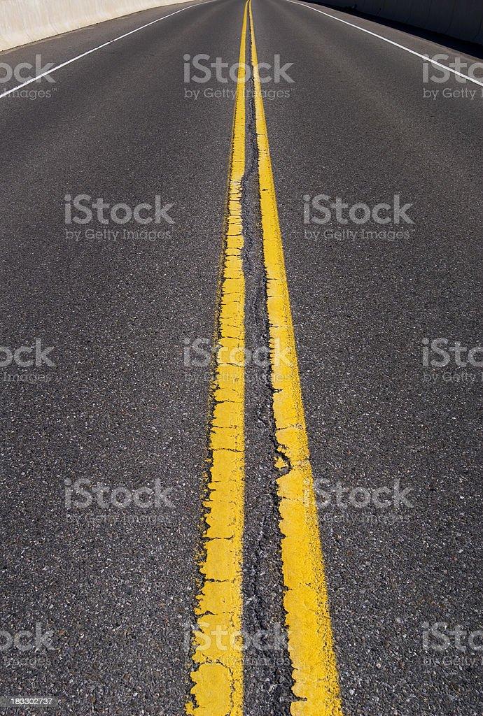 Road to nowhere stock photo