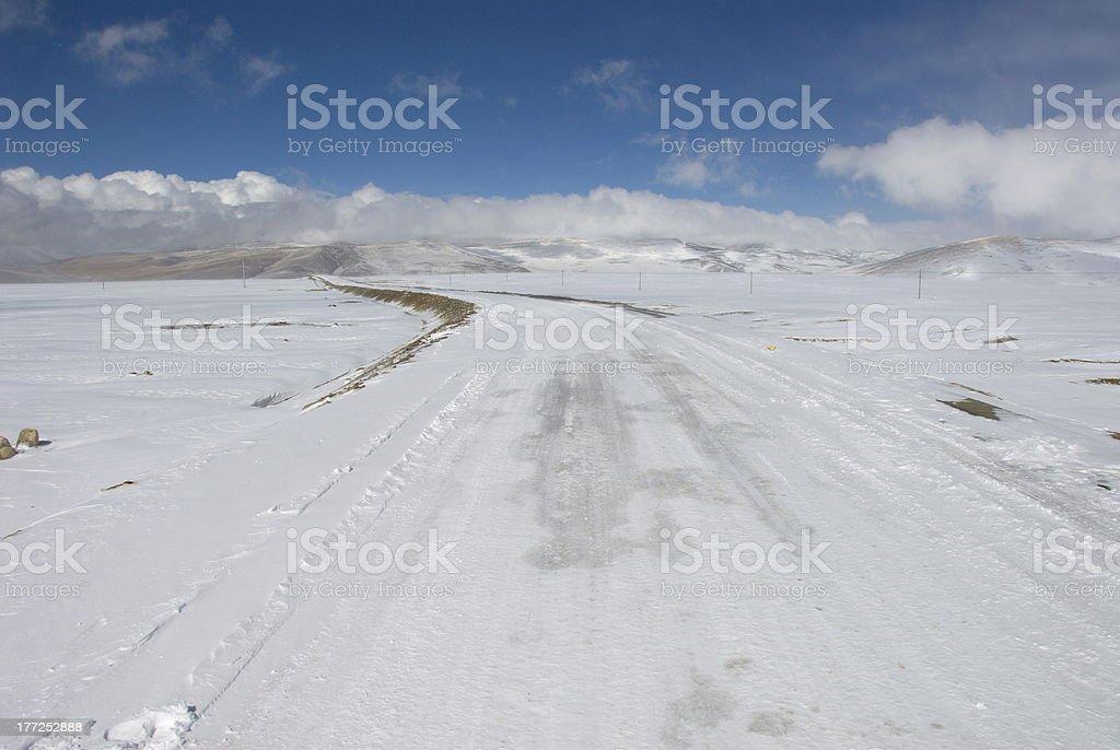 Road to Nylam royalty-free stock photo