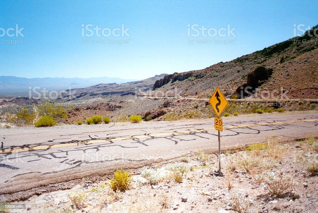 Road to Oatman Arizona royalty-free stock photo