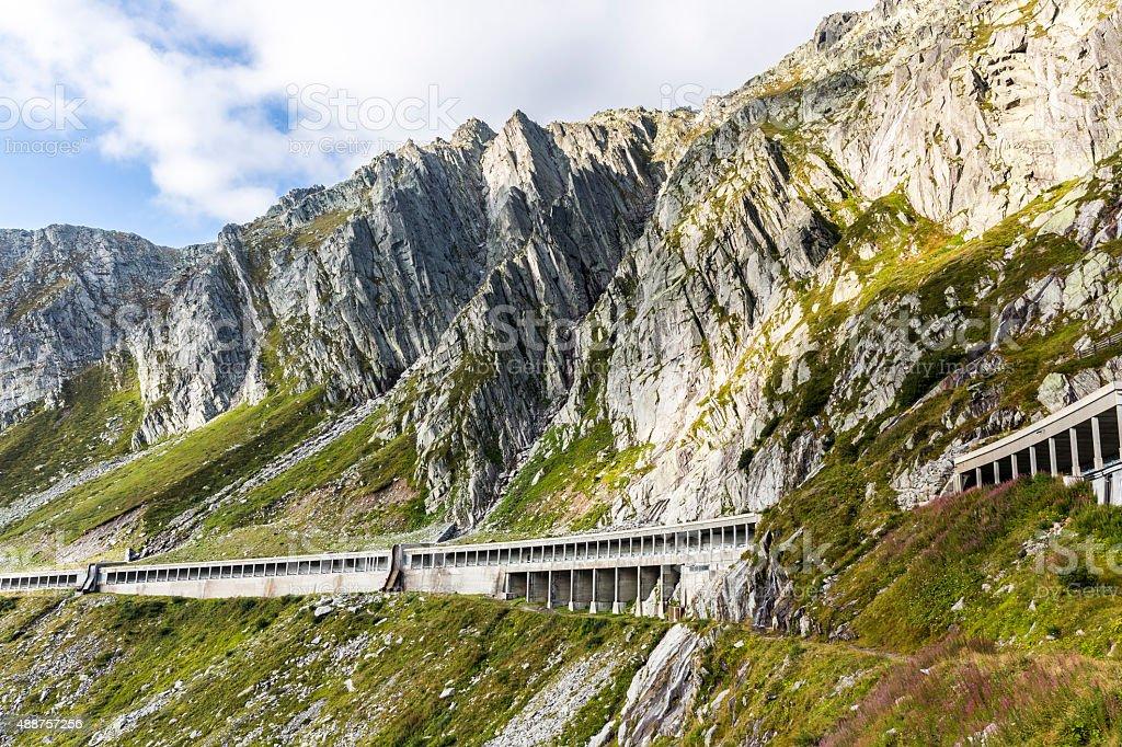road to pass Gotthard stock photo