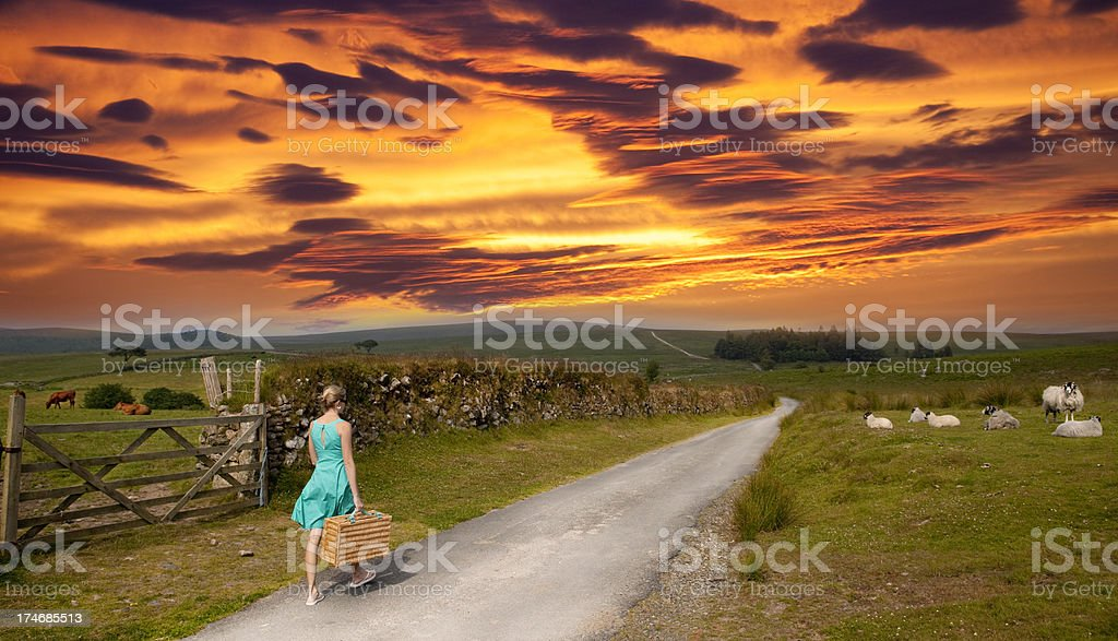 Road to perdition royalty-free stock photo