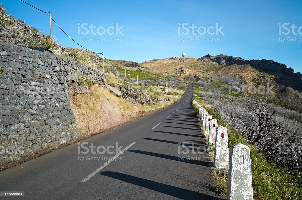 Road to Pico Ruivo stock photo