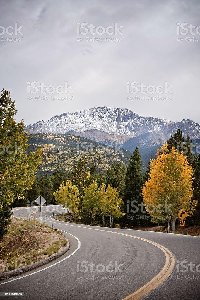 Road to Pikes Peak stock photo