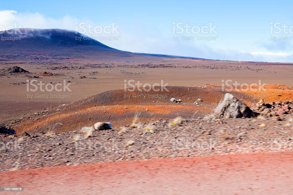 Road to Piton de la Fournaise - Reunion Island stock photo