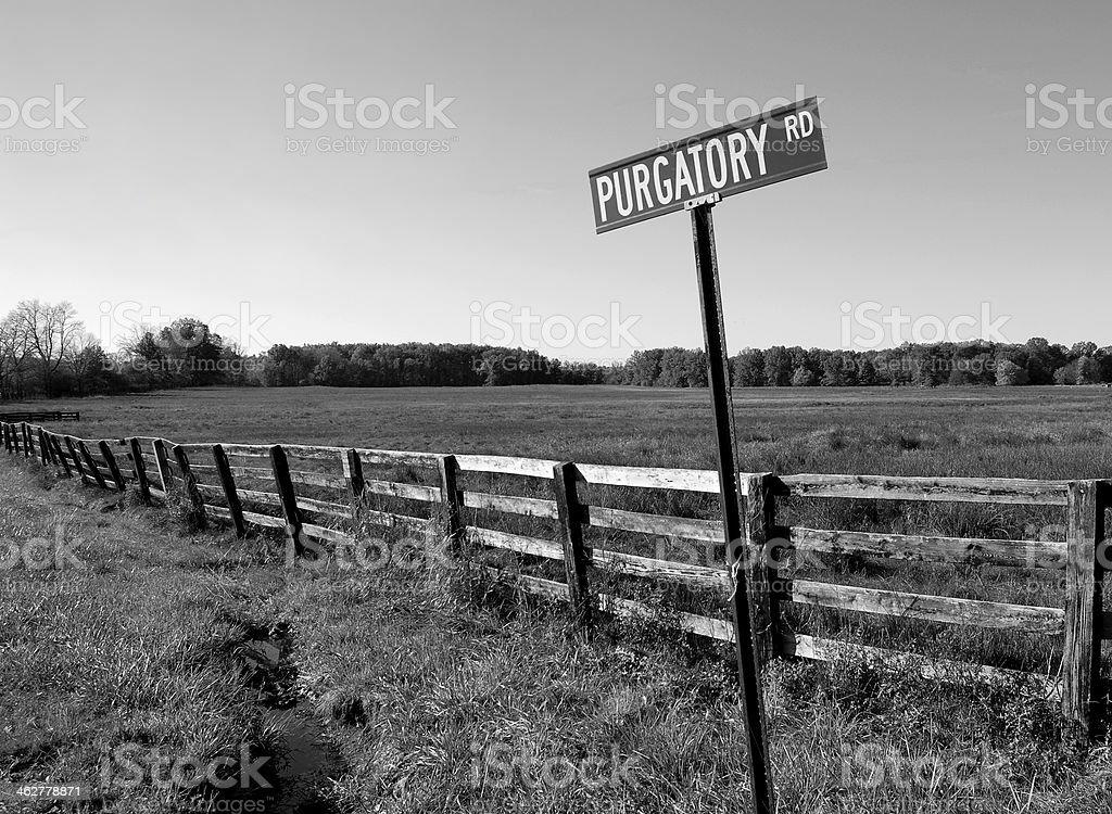 Road to Purgatory stock photo