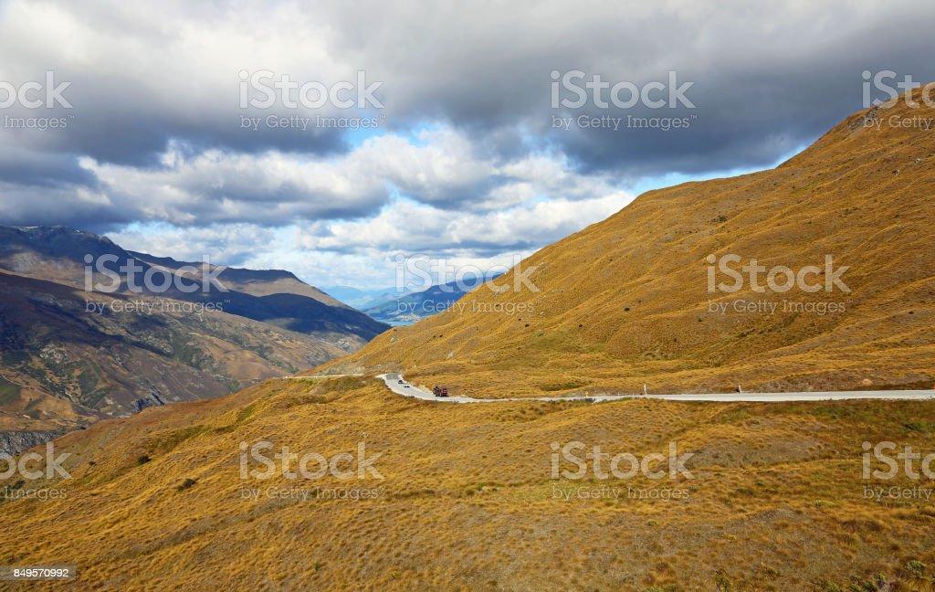 Road to Queenstown stock photo