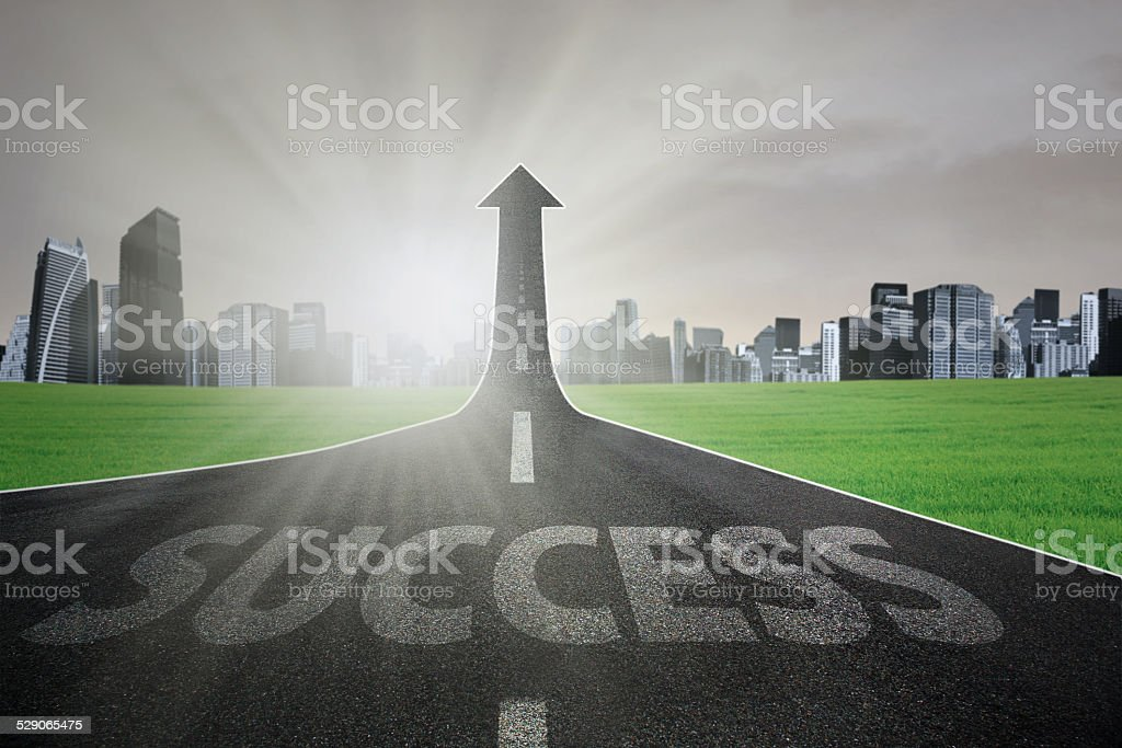 Road to realize success stock photo