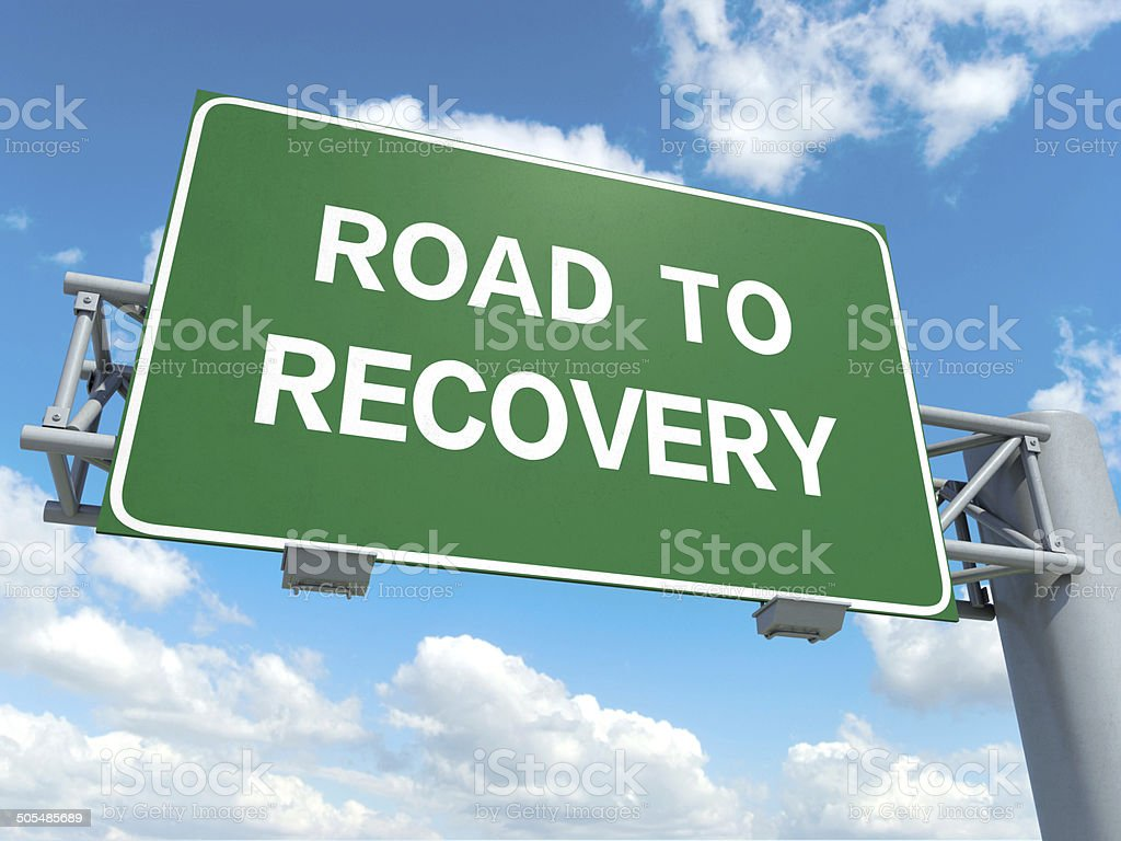 road to recovery stock photo