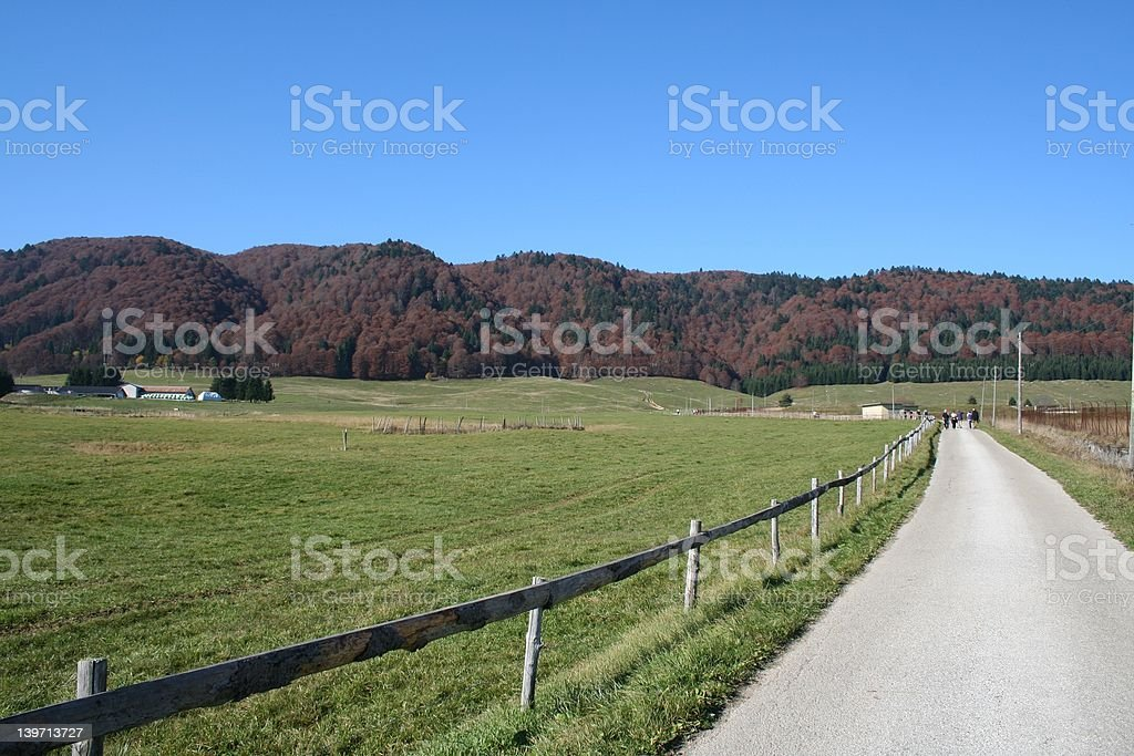 road to red hills italy royalty-free stock photo