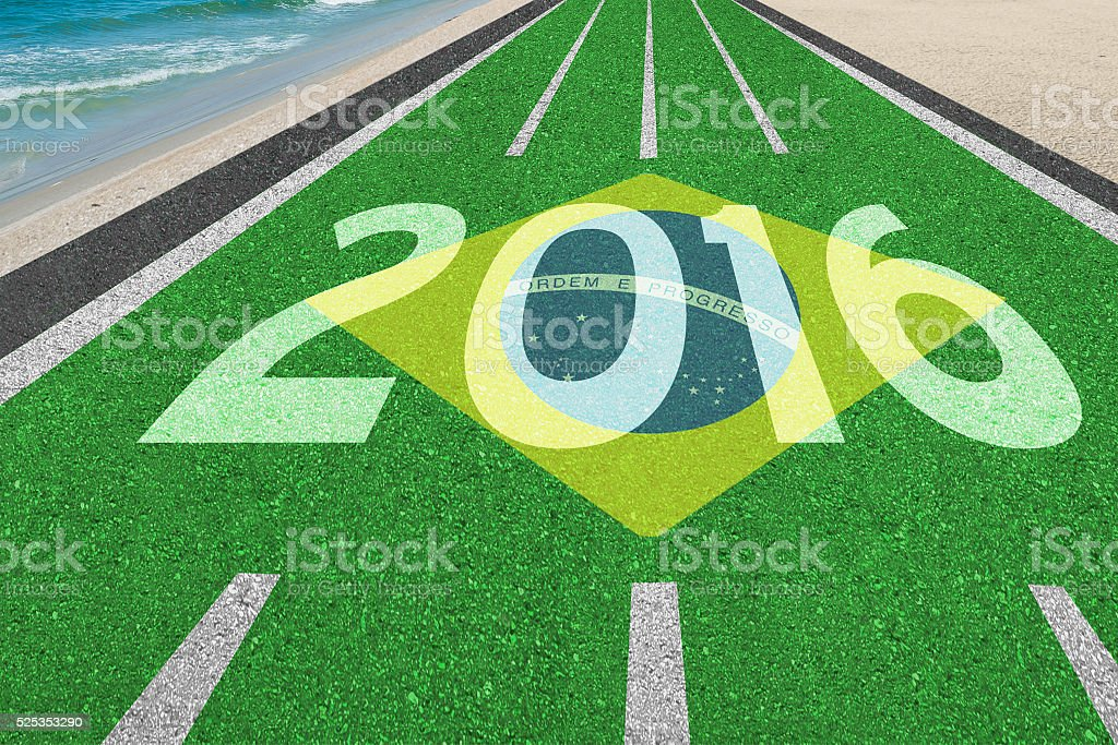 Road to Rio games in Brazil stock photo
