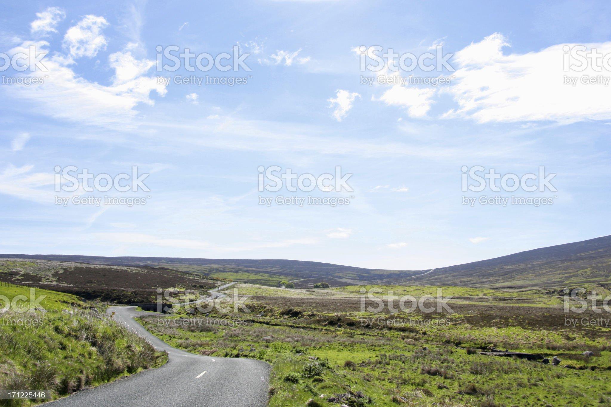 Road to Sally Gap (Ireland) royalty-free stock photo
