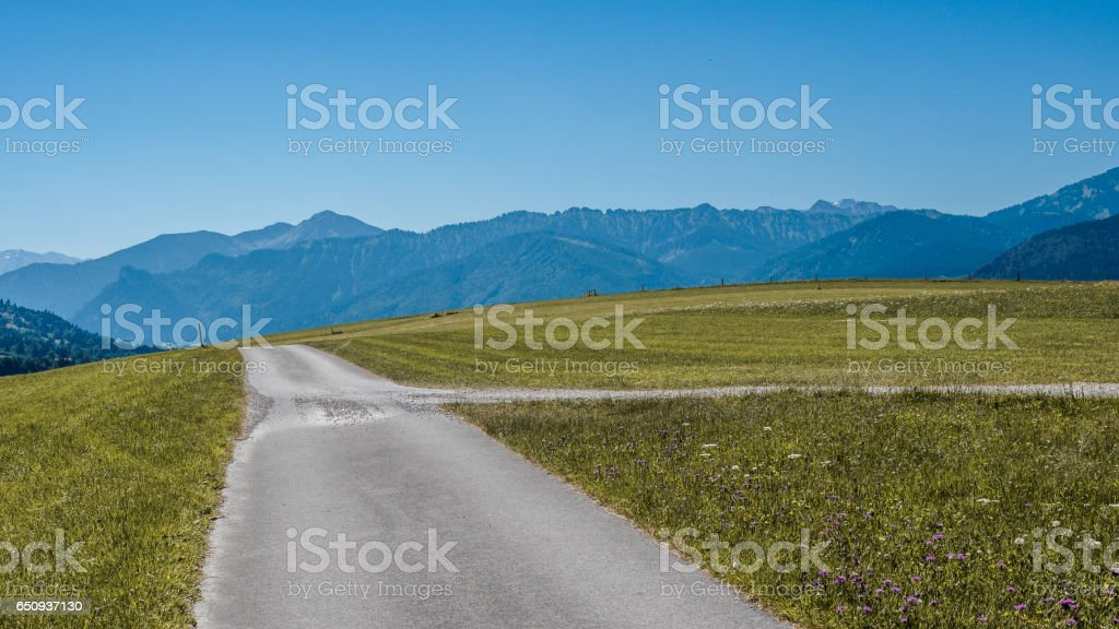 Road to Saulgrub III stock photo