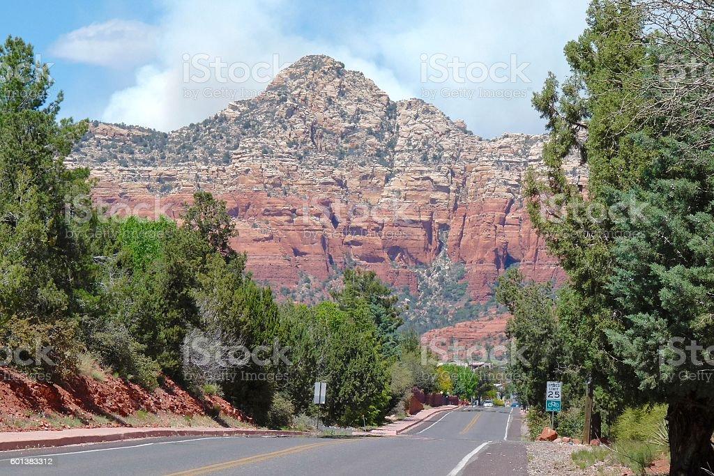 Road to Sedona stock photo