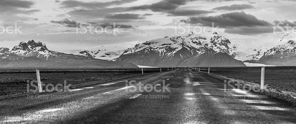 Road to Skaftafell royalty-free stock photo