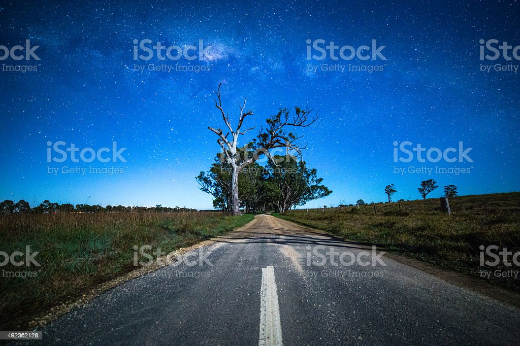 Road to somewhere stock photo