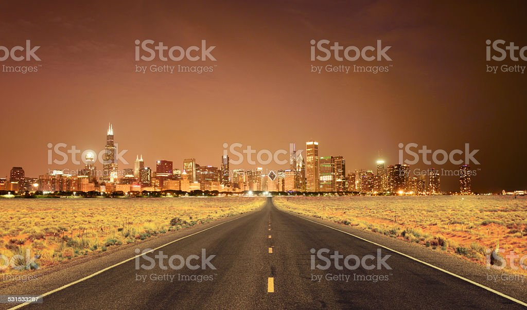 Road to Success, Chicago stock photo