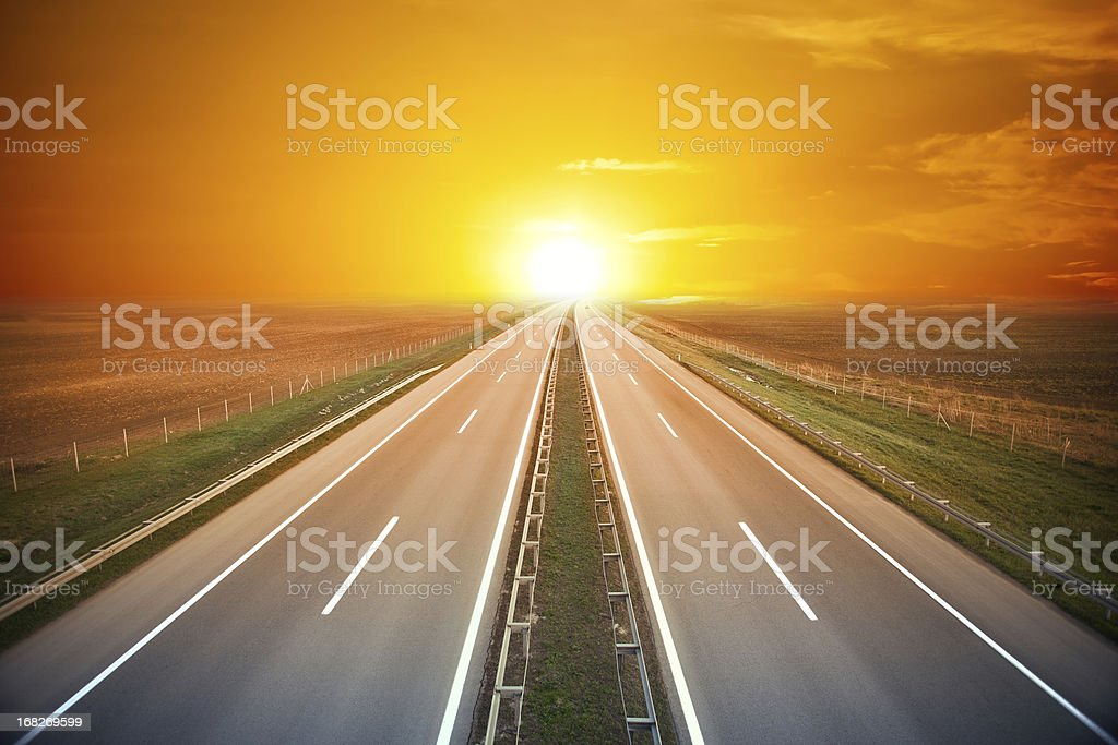 Road to Sun royalty-free stock photo
