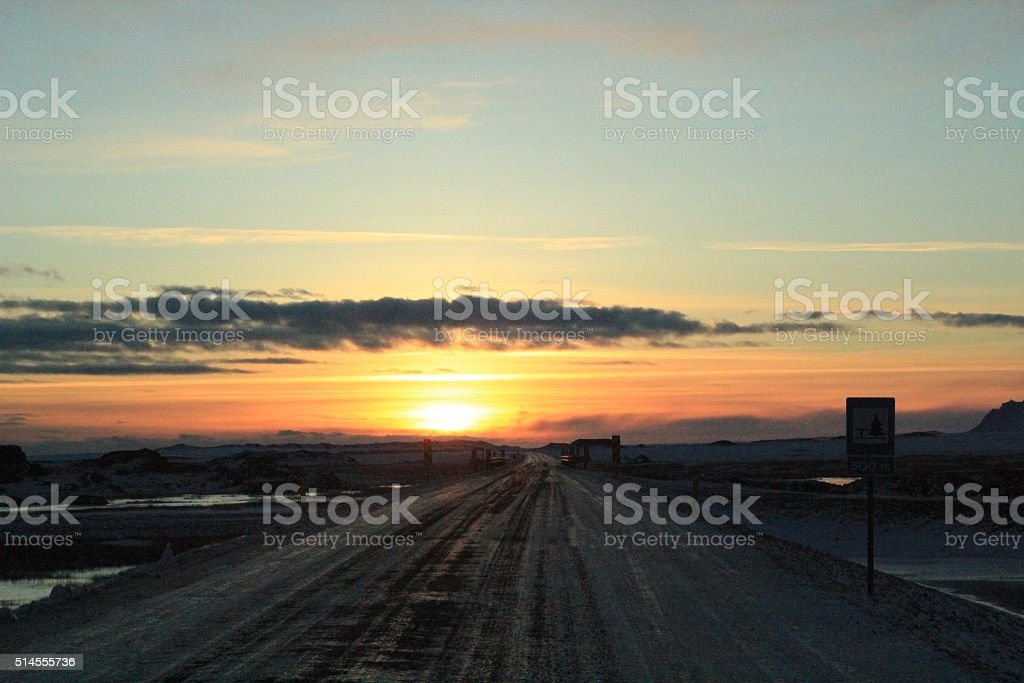 Road to Sunset royalty-free stock photo