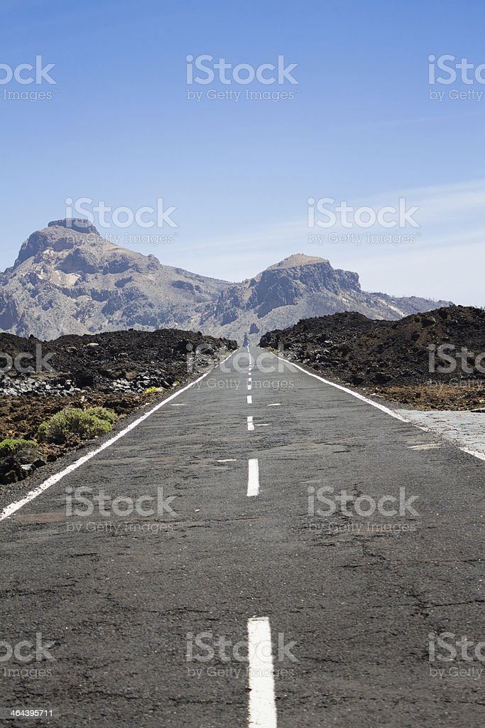 Road to Teide royalty-free stock photo