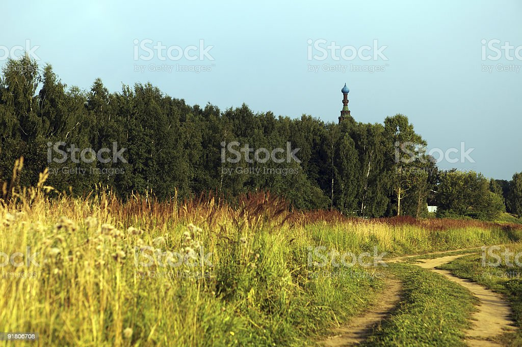 road to temple royalty-free stock photo