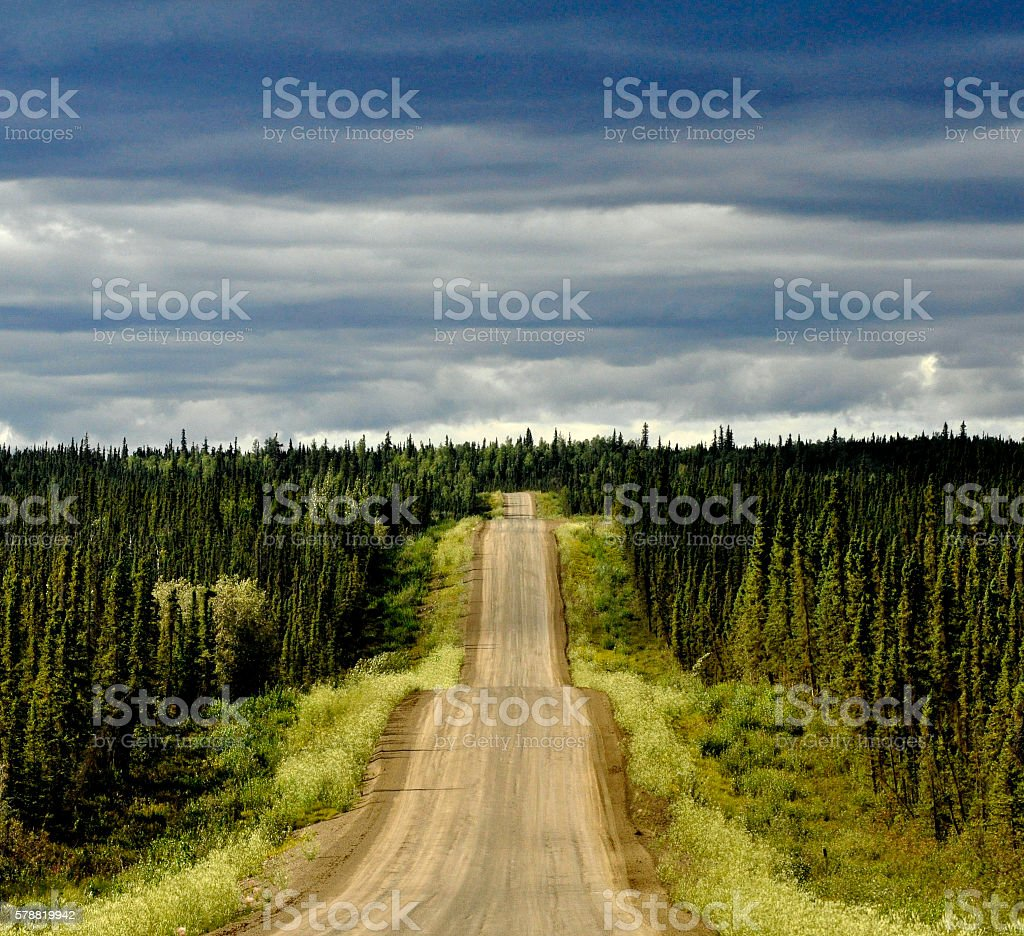 Road to the Arctic stock photo