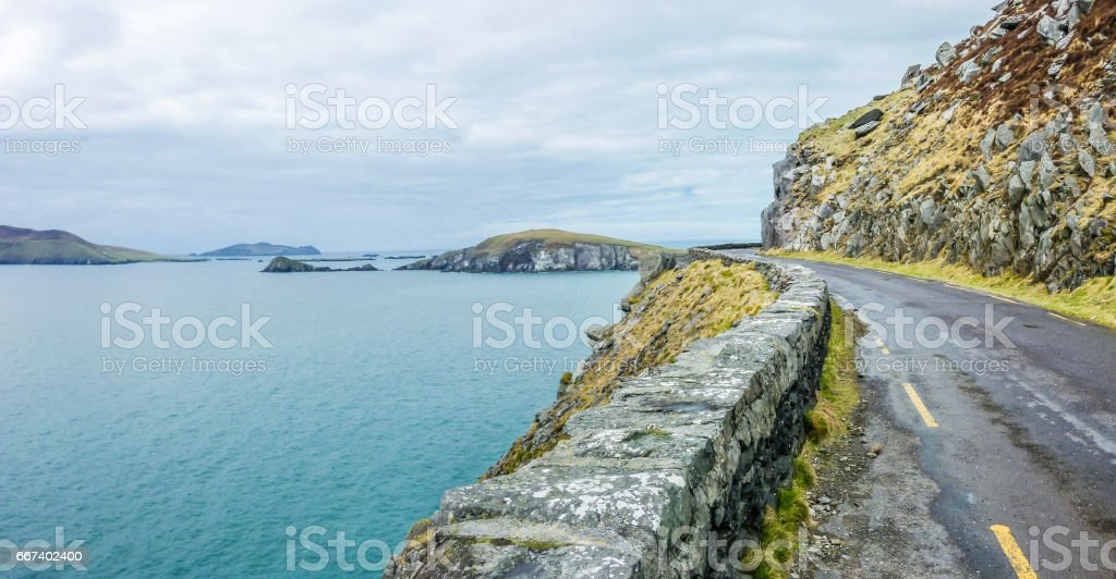 Road to the Blaskets, Dingle, Ireland stock photo