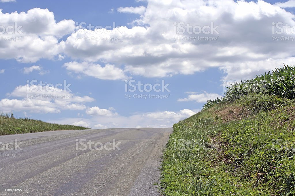 Road to the Clouds royalty-free stock photo