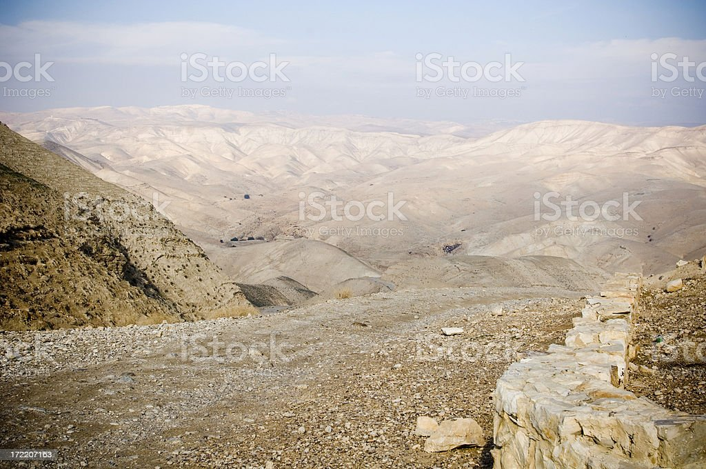 Road to the desert royalty-free stock photo