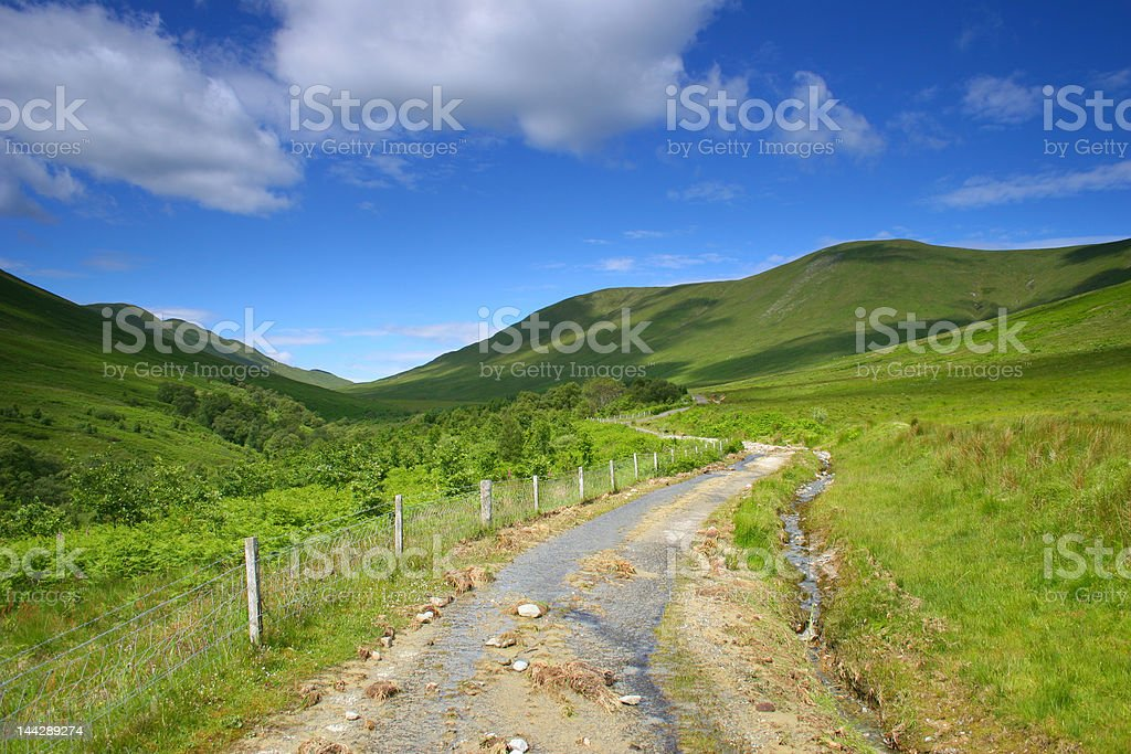 Road to the Highlands royalty-free stock photo