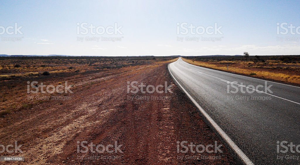 Road to the infinite stock photo