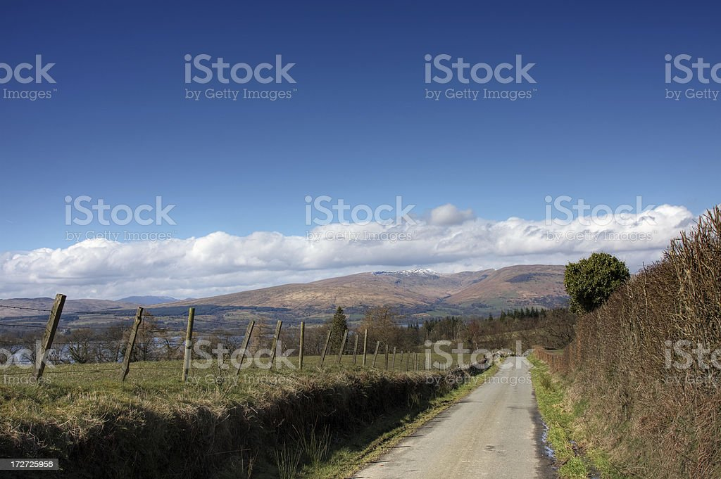Road To The Loch royalty-free stock photo