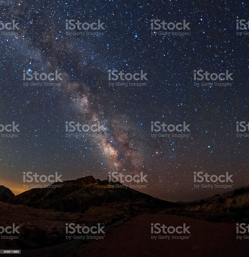 Road to the Milky Way royalty-free stock photo