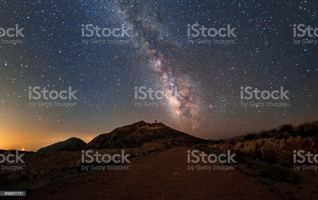Road to the Milky Way stock photo