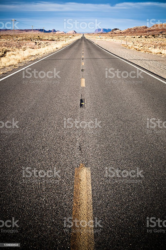Road to the Monument Valley royalty-free stock photo