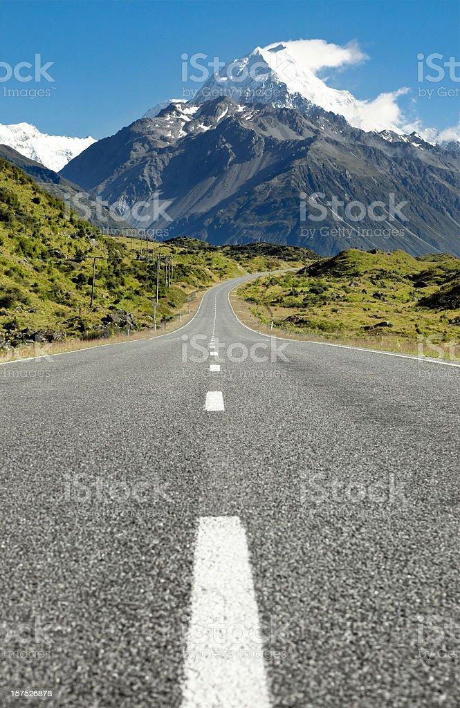 Road To The Mountain royalty-free stock photo