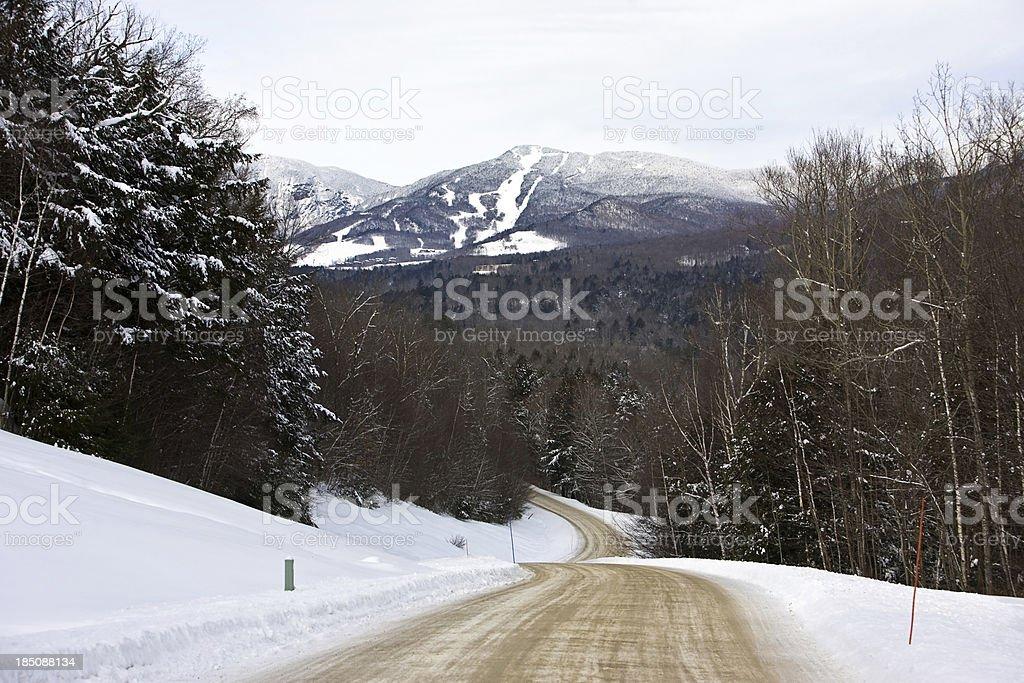 Road to the Mountain stock photo