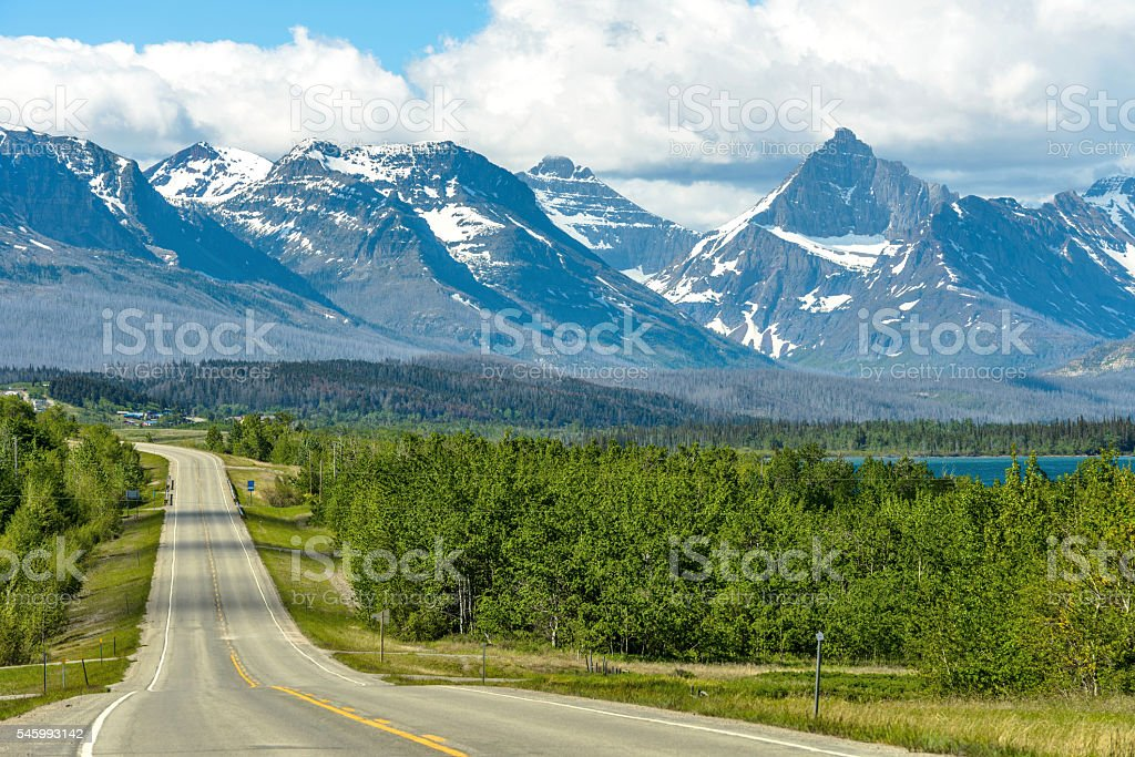 Road to the Mountains stock photo