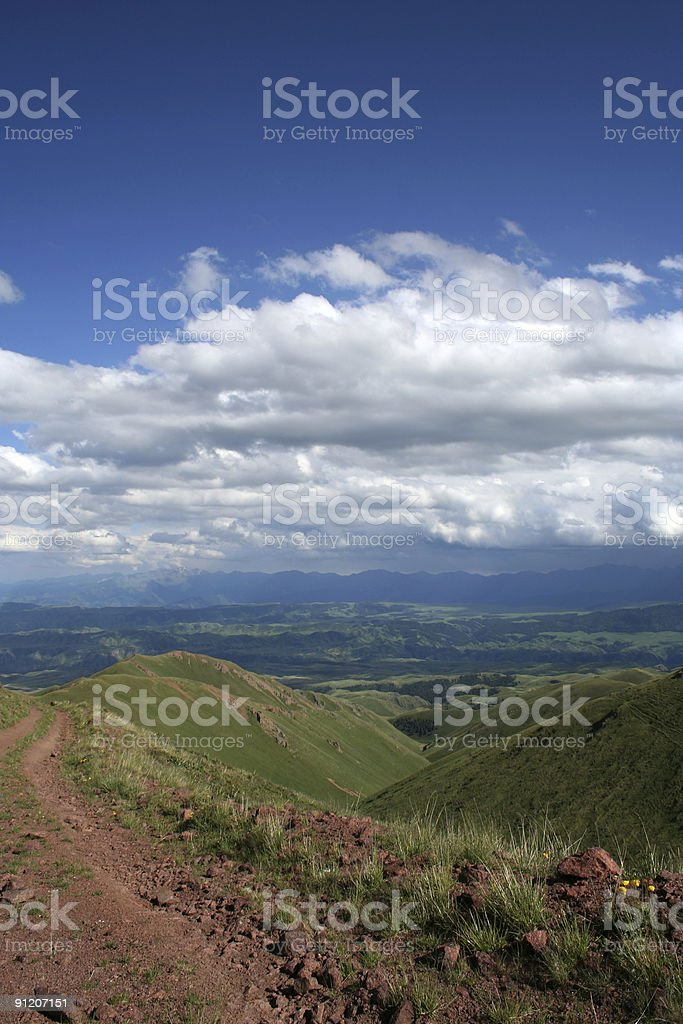 road to the mountains royalty-free stock photo
